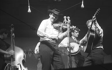 Tex Logan with the New Lost City Ramblers