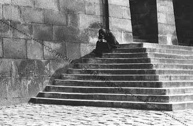 Girl on steps, 1964