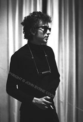 Bob Dylan against Drapes 1964