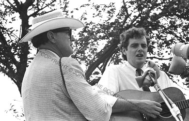 Peter Rowan (r.) and Bill Monroe